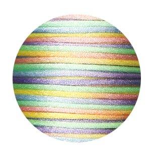 Satijnkoord Multicolor pastel
