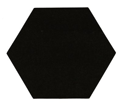 Sticker zeshoek zwart