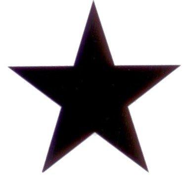 Sticker Ster zwart