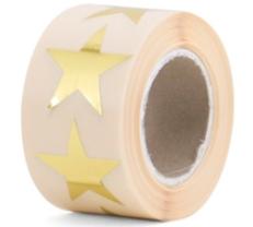 Sticker Ster goud