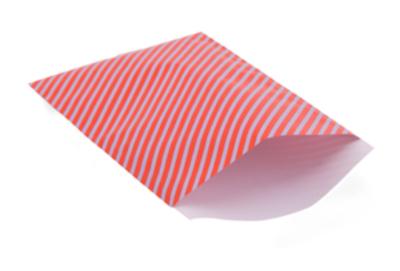 Cadeauzakjes Happy stripes sporty red 17 x 25