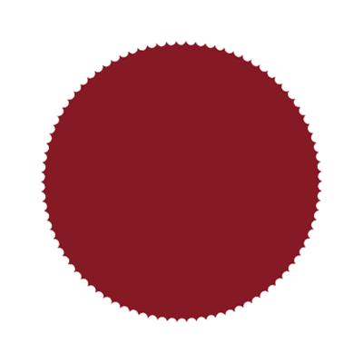 Sticker Zegel bordeaux rood