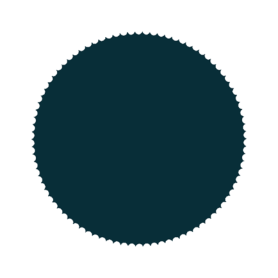 Sticker Zegel marine blauw