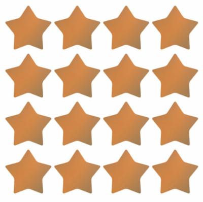 Stickers sterren metallic brons