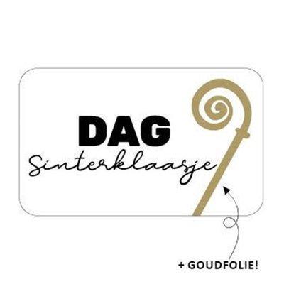 Sticker Dag Sinterklaasje (staf)