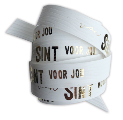 Krullint Van Sint voor jou wit/goud