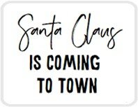 Sticker Santa Claus is coming to town