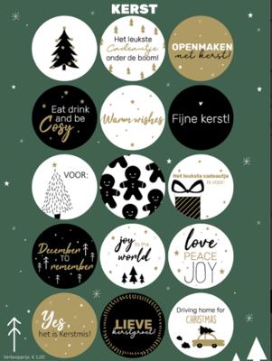 Stickervel Kerst assorti
