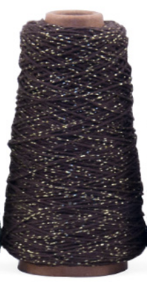Cotton cord brown/gold