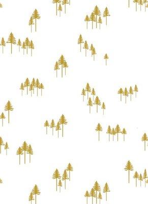 Vloeipapier Trees gold