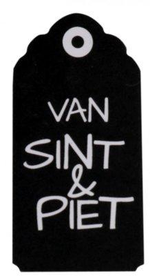 Sticker label van Sint en Piet