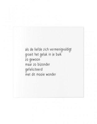 Wenskaart Gedicht als de liefde zich vermenigvuldigt