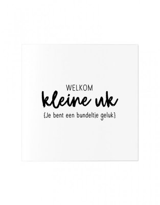 Wenskaart Welkom kleine uk