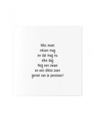 Wenskaart Gedicht pensioen