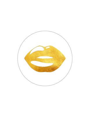 Sluitzegel Lips xs white/gold