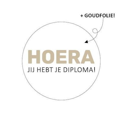 Sticker Hoera jij hebt je diploma!