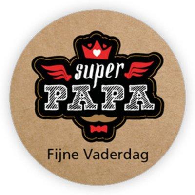 Sticker Super papa, fijne vaderdag