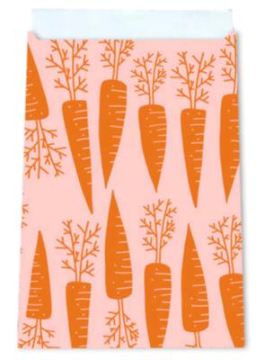 Cadeauzakjes Waanzinnige wortels oranje 12 x 19