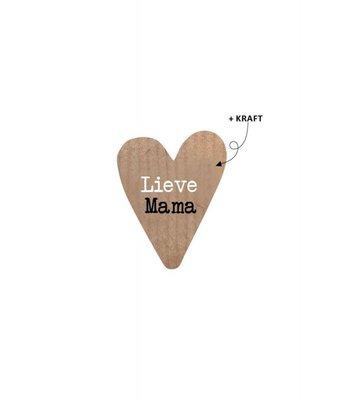 Sticker hart Lieve mama