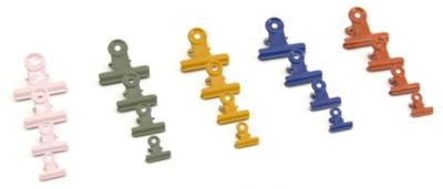 Office clips coloured medium