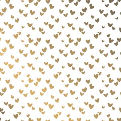 Vloeipapier Solo hearts gold