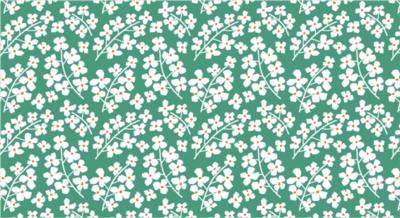 Cadeaupapier Jessica Nielsen flowers green