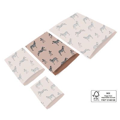 Cadeauzakjes Pink zebra 17 x 25