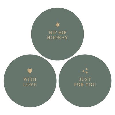 Stickers Hip hip hooray combi ocean/gold