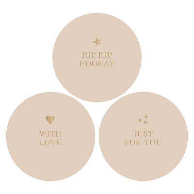 Stickers Hip hip hooray combi beige/gold