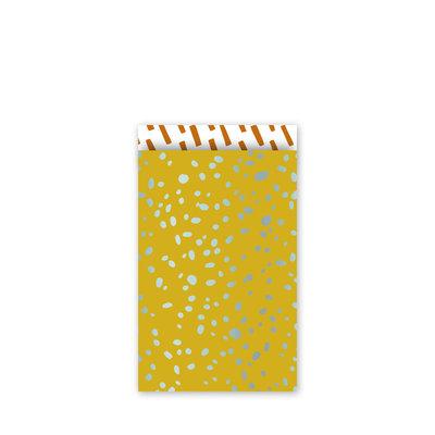 Cadeauzakjes Colorful terrazzo oker/mint/roest 12 x 19