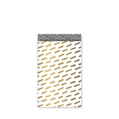 Cadeauzakjes Open spaces goud/zwart/wit 12 x 19