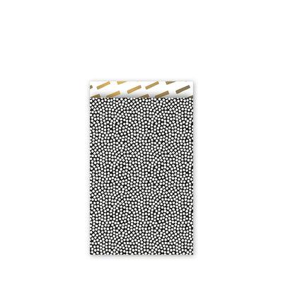 Cadeauzakjes Cozy cubes zwart/wit/goud 12 x 19