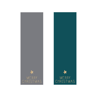 Stickers Duo label Merry Christmas grey/petrol/gold
