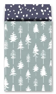 Cadeauzakjes Lovely trees ijsblauw 17 x 25