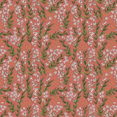 Cadeauzakjes Winter flowers red 17 x 25