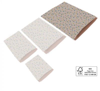 Cadeauzakjes Confetti taupe/terra 27 x 34