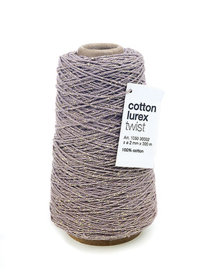 Cotton cord mauve/gold