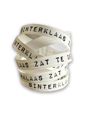 Krullint Sinterklaas zat te denken wit/zwart