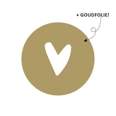 Sticker Hartje goud/wit 40mm