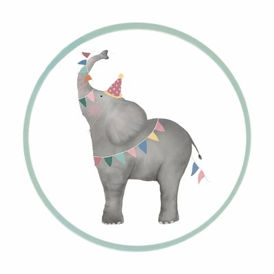Sticker Olifant (middel)