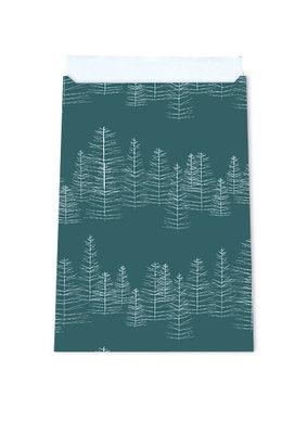 Cadeauzakjes Pine green 12 x 19