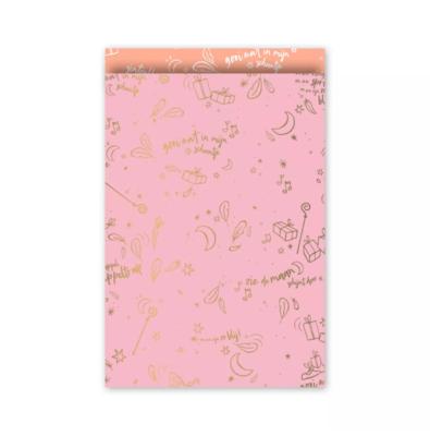Cadeauzakjes Sing along Sint roze/goud/neon 17 x 25