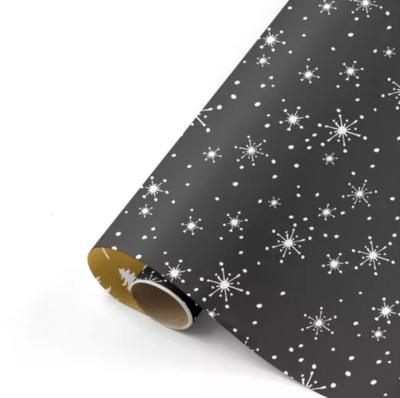Cadeaupapier Reach for the stars zwart/wit/mint