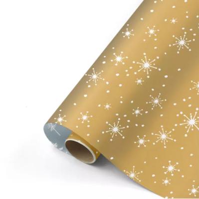 Cadeaupapier Reach for the stars goud/wit/ijsblauw