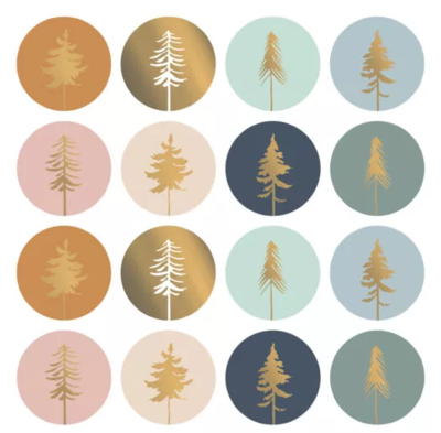 Stickers Lovely trees assorti