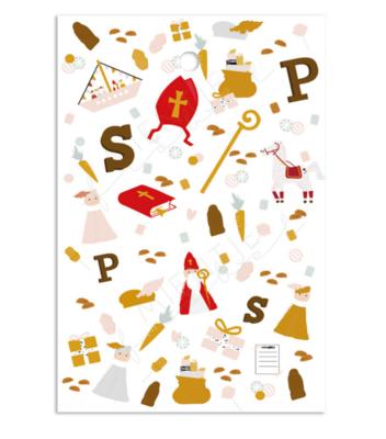 Cadeaukaartje Sinterklaas icoontjes