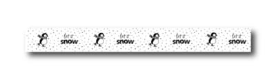 Masking tape Let it snow (pinguin)