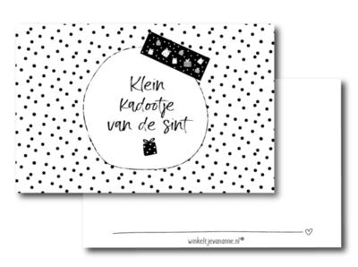 Mini kaartje Klein kadootje van de Sint