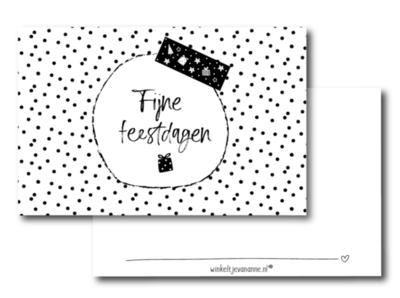 Mini kaartje Fijne feestdagen