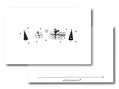 Mini kaartje Boompjes en pakjes